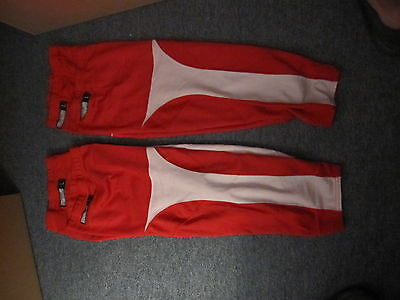 Reebok Authentic Game Socks Red with White Trim - 2 Pairs USED Large