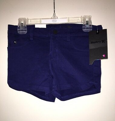 BRAND NEW w/tag HURLEY GIRLS CASUAL SHORTS SIZE: 7 OCEAN BLUE FREEE SHIPPING