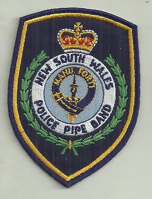 Obsolete Nsw Police Pipe Band  Patch Not Badge