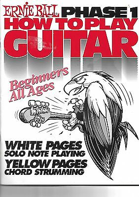Ernie Ball - Phase 1 How to Play GUITAR for Beginners all ages  Songbook 1980