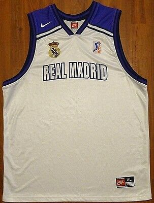 Authentic Nike Real Madrid Acb Basketball Team Issue Jersey Xl Nba