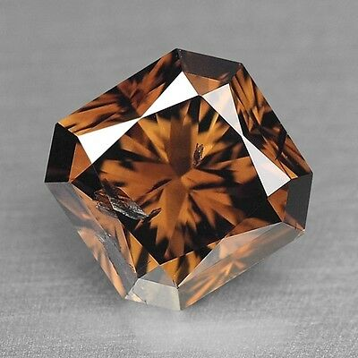 Loose Diamond Natural Radiant Shape Fancy Champagne Brown  1.05 cts Diamond F652