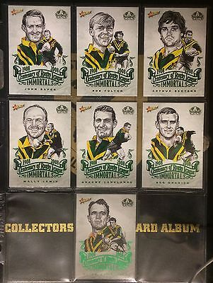 2008 Nrl Select Centenary ,Complete Set Of 7 Sketch Cards , Exc Cond..