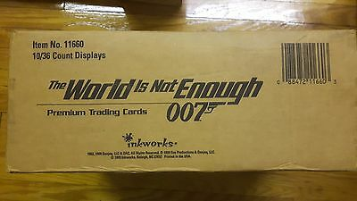 James Bond The World is Not Enough (TWINE) Sealed 10 Box Case - Inkworks