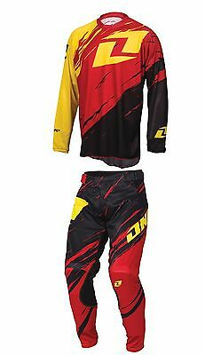 One Industries Vapor Lite Side Swipe MX Pants and Jersey Set Size 28/Small
