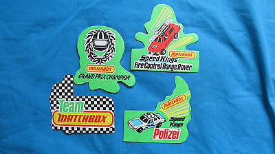 Lot of 4 Vintage Matchbox Car Stickers, 70's, Speed Kings, Polizei, Grand Prix