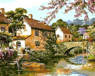 "New DIY Paint By Number 16*20"" kit Oil Painting On Canvas Spring Comes 1164"