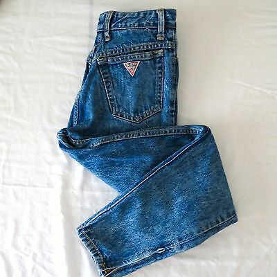 Vintage 80's/90's High Waisted Guess Jeans Georges Marciano Acid Wash Denim  29