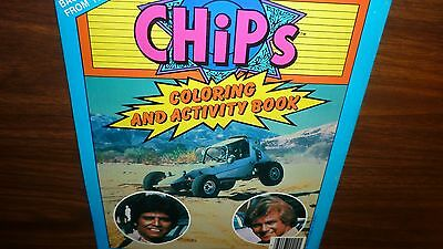 Vintage Unused 1983 Tv Chips Coloring And Activity Book