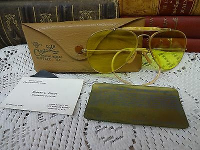 Vintage Louis Schutt Clear Site Shooting Goggles w/ Case ~ Custom Glasses ~ USA