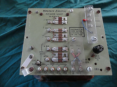 Used / Western Electric 20B2 Power Unit / Telephone Power Supply