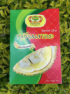 Fried Durian Snack Thai Fruit Food Natural Delicious Dried Crisp 1X30G