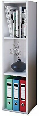 VCM Collector Shelf Mendas For 105 CDs With Wood Structure Reproduction, White