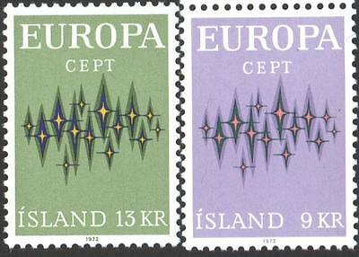 Mint stamps  Europa CEPT 1972  from Iceland