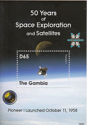 Gambia MNH Sc 3152 S/S Space Exploration Value $ 6.50 US $$