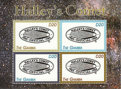 Gambia MNH Sc 3068 S/S Halley's Comet Value $ 6.00 US $$
