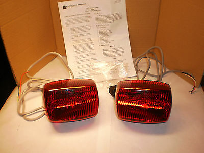 2 Red Federal Signal Grill Strobe Lights  GS2-R 12Volt-New- Emergency Grille