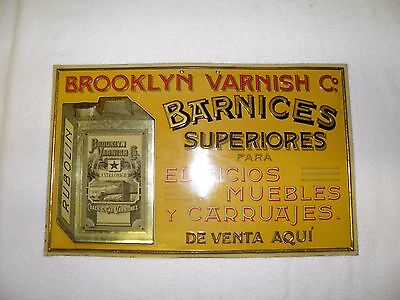Brooklyn Varnish Co. Coach Car Varnish Vintage Embossed, Real Deal!!! Nice!*
