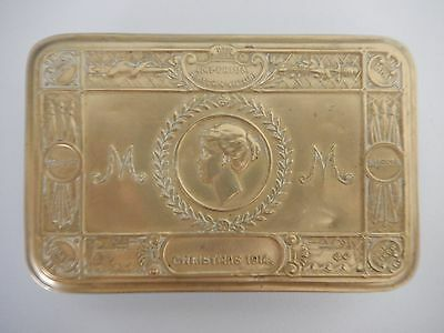 Original (not copy) WW1 1914 Princess Mary Brass Christmas Tin