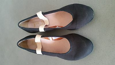 Bloch character black shoes, girls size 13.5