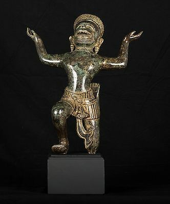 "Antique 19th Century Southeast Asia Hindu God Hanuman Statue - 47cm/16"" Tall"