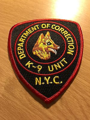 Police Patch - Department Of Corrections New York City K9 Unit, New York, Usa