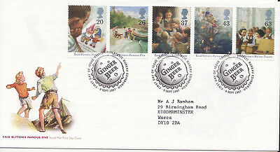 GB First Day Cover Birth Centenary of Enid Blyton 1997