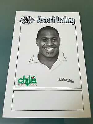 1998 Western Suburbs Magpies Chilis Rugby League Nrl Card Aseri Laing