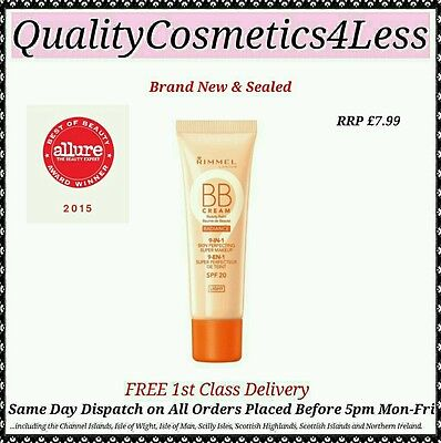 Rimmel BB Cream Radiance - Light - 30ml - Sealed + FREE 1st Class Delivery