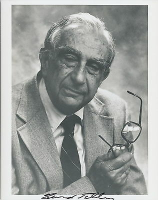 "Edward Teller signed photo. ""Father of the H-Bomb""."