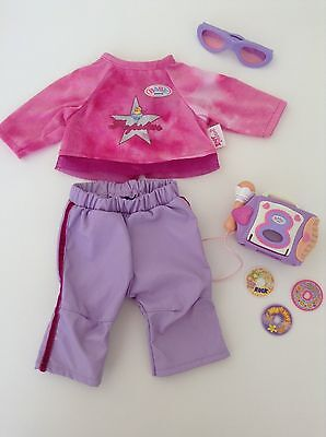 Zapf Creation Baby Born 'Pop Star' Outfit- RARE and In Near New Cond!