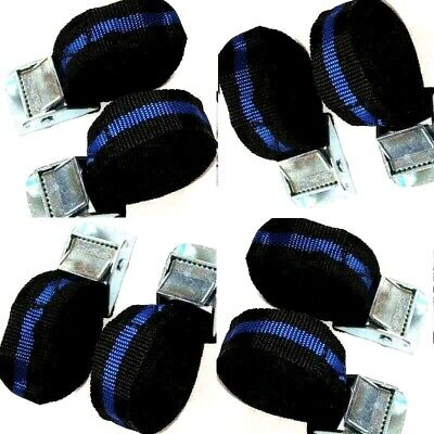 Pack Of 8 Cam Buckle Tie Down Straps Roof Rack Trailers Cargo 25Mm X 2500Mm Long