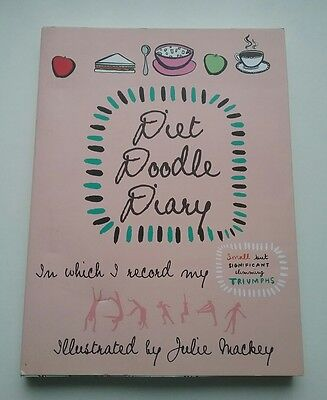 Ladies Doodle Diary Journal Food Log Record Book