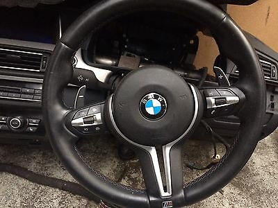 2013-2016 Bmw F10 M5 Leather Multifunction Steering Wheel With Paddles