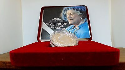 The Queen Mother 2002 £5 Pound Silver Proof Memorial Coin In Case