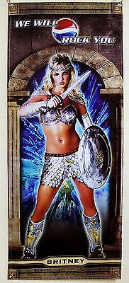 "BRITNEY ""WE WILL ROCK YOU"" Pepsi 2004 VINYL BANNER"