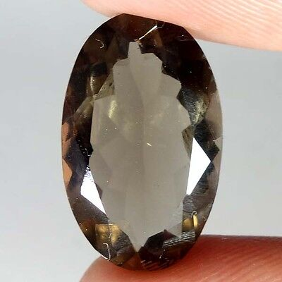 10.35Cts.100% NATURAL SMOKY QUARTZ OVAL CUT BRAZIL HIGH GRADE LOOSE GEMSTONES