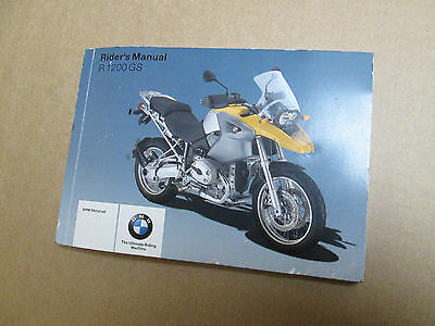BMW R1200GS 2007 27,785 miles Riders owners manual / Service book