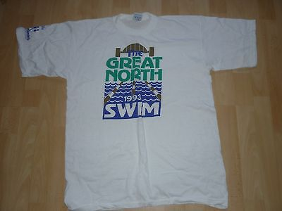 Rare Official Great North Swim T Shirt 1993. Size L