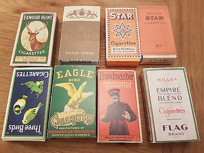 Reproduction Vintage Cigarette Packets x 8 complete with Hull and Slide