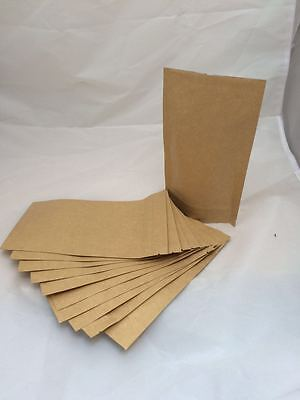 10 x BAGS KRAFT PAPER STAND UP PLASTIC BAG POUCH