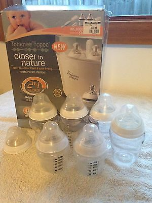 Closer To Nature / Tommee Tippee Electric Bottle Steriliser + Extras