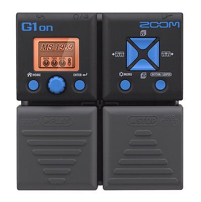 Zoom G1on Multi Effect Processor Stomp Pedal NEW FREE SHIPPING