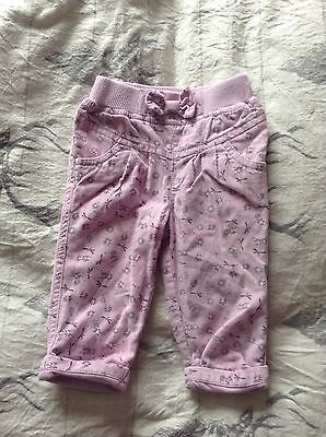 Baby Girl M&Co purple trousers 3-6 months
