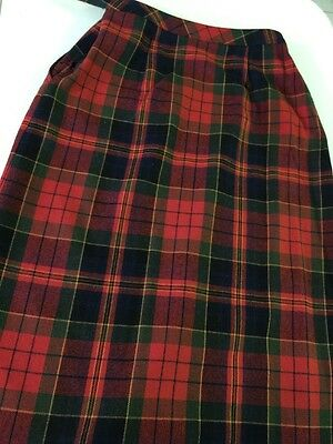 VINTAGE 1960s 70s LOIS ANDERSON FOR TANNERWAY WOOL PLAID SKIRT SIZE 10