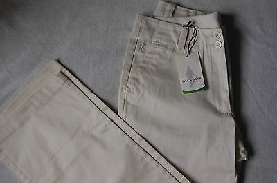 New Glenmuir Ladies Stella Cotton Golf Trousers Winter White Size 10 Long