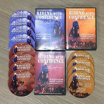Riding with Confidence lvls 1,2,3 - 12 dvd course by Clinton Anderson