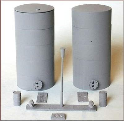 Knightwing 2 x Tanks/Silos + Accessories Kit for HO and OO Scale