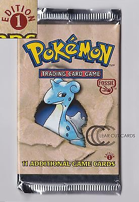 1st Edition Pokemon Cards Fossil Booster Pack *MINT* EXTREMELY RARE 1999