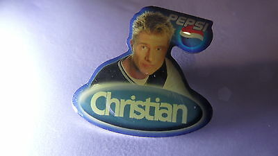 "orig. BIG BROTHER PIN ""CHRISTIAN"" STAFFEL 2, PEPSI, 30x30 mm,  gut erhalten !!"